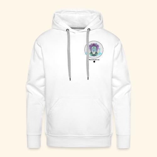 GEOMETRIC LION - Sweat-shirt à capuche Premium pour hommes