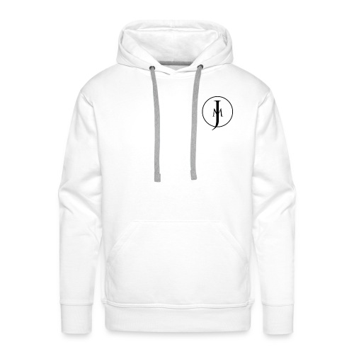 JM Designs Black on White - Men's Premium Hoodie