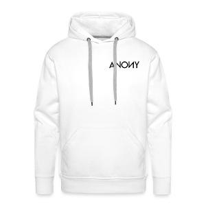Anony Text - Sudadera con capucha premium para hombre