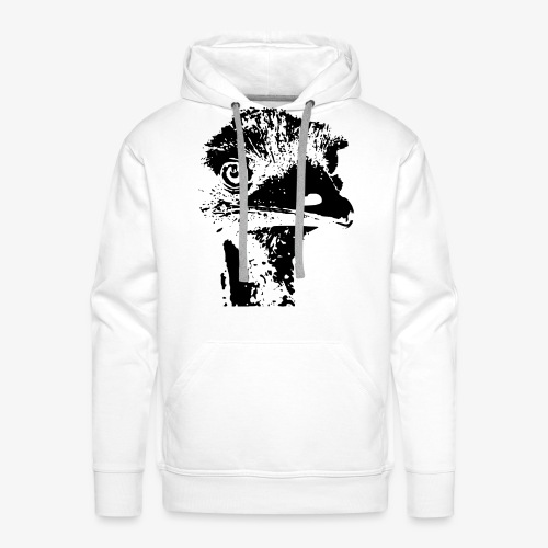 Emu Outline Black - Men's Premium Hoodie