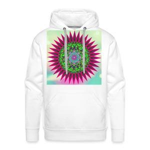 Mandala Flower - Premium hettegenser for menn