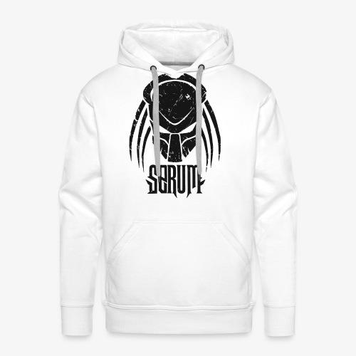 Serum Logo /Lettring Black - Sweat-shirt à capuche Premium pour hommes