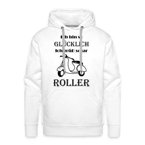 Ich bin so Glücklich ich grüß sogar Roller Black - Männer Premium Hoodie