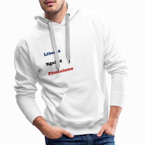 liberte egalite feminisme - Sweat-shirt à capuche Premium pour hommes