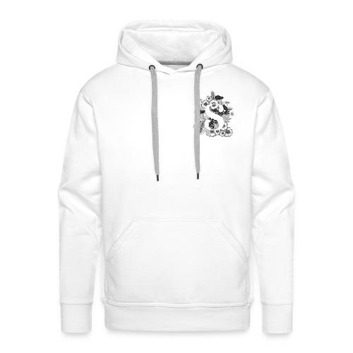 Black flowers s - Mannen Premium hoodie