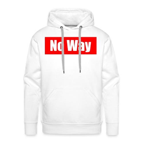 no way logo - Sweat-shirt à capuche Premium pour hommes