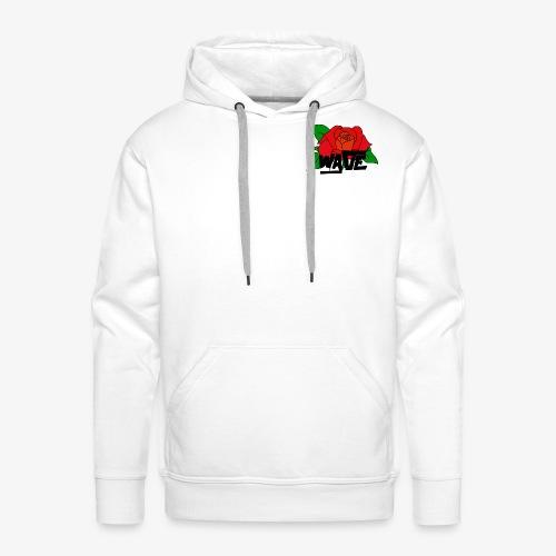 WAVE ROSE - Sweat-shirt à capuche Premium pour hommes
