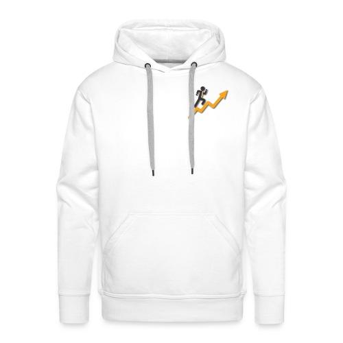 Climb your objectives - Sweat-shirt à capuche Premium pour hommes