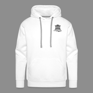 The Temple's White Classic - Men's Premium Hoodie