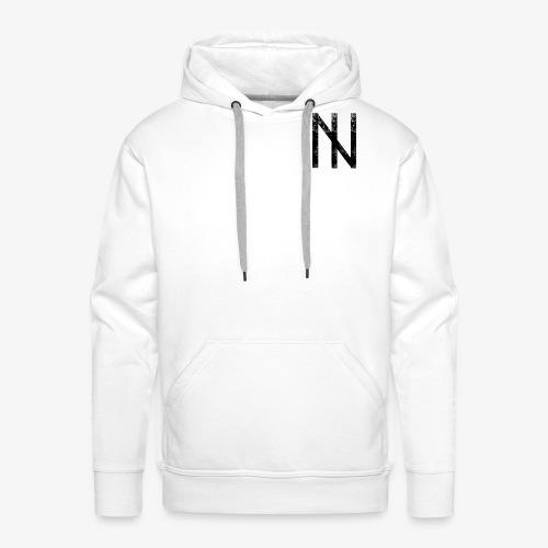 Black Logo on White - Männer Premium Hoodie