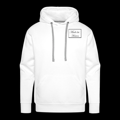 Made in Heaven Logo ,Black on white - Men's Premium Hoodie