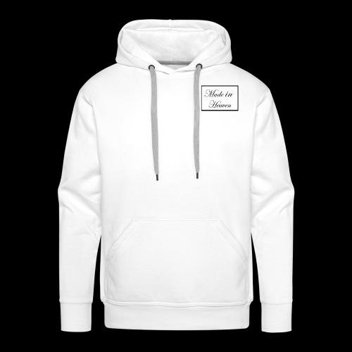 Made in Heaven Logo ,Black on white - Men's Premium Hoodie