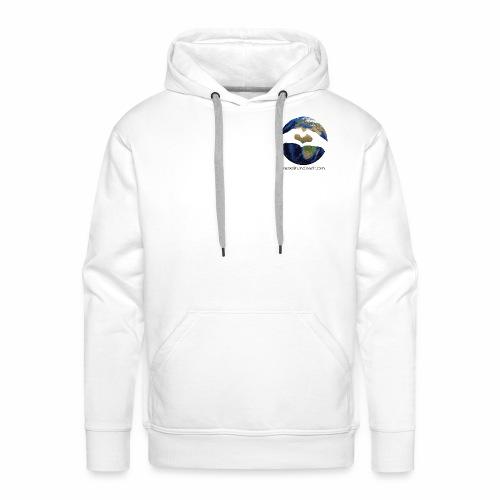 Zu zweit um die Welt: Logo mit Schriftzug - Männer Premium Hoodie