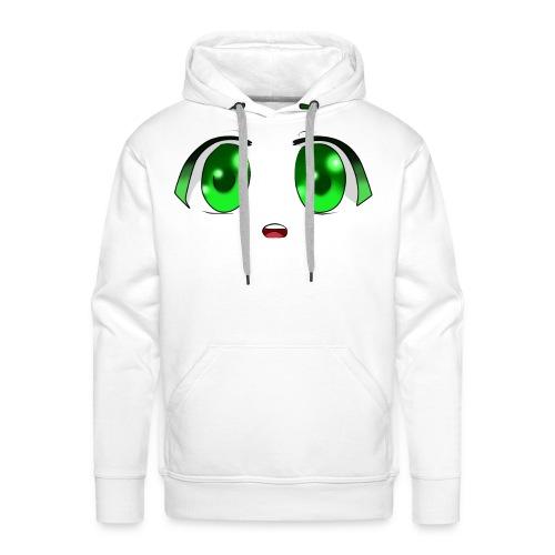 Ojos Anime - Sudadera con capucha premium para hombre