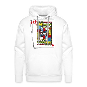King Playing Card holding a Spraycan - Mannen Premium hoodie