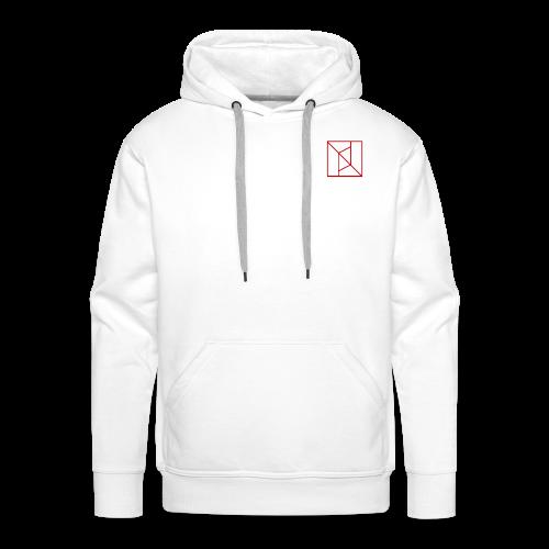 logo pandémium rouge - Sweat-shirt à capuche Premium pour hommes