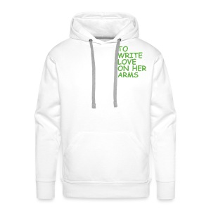 to write love on her arms green - Männer Premium Hoodie