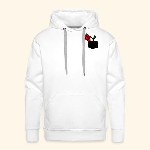 rose cube - Sweat-shirt à capuche Premium pour hommes