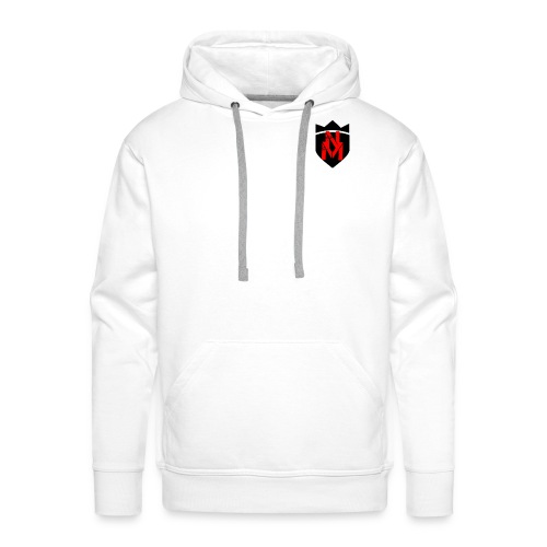 Weißer Hoodi mit neuem Logo - Männer Premium Hoodie
