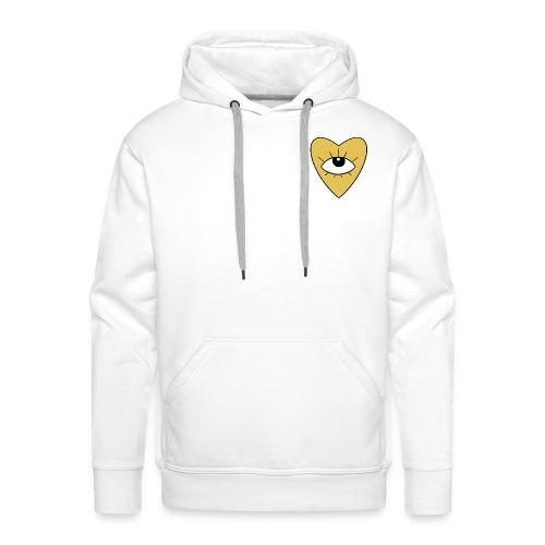 coeur - Sweat-shirt à capuche Premium pour hommes