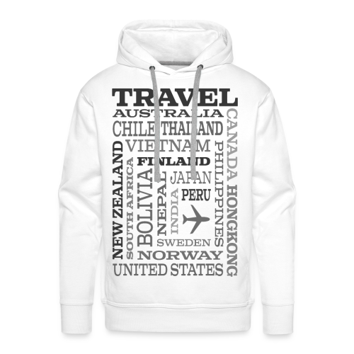 Travel Places Gray design - Miesten premium-huppari