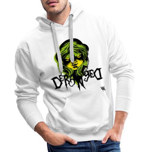 DerangeD - Tattoo Metal Horror Vampire - Herre Premium hættetrøje