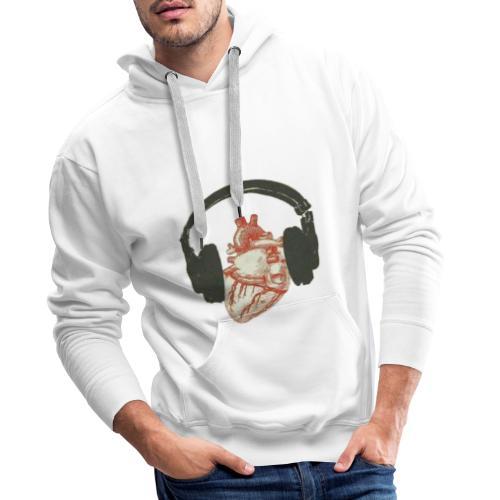 Music in the heart - Sweat-shirt à capuche Premium pour hommes