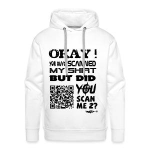 QR shirt for nosy people - Mannen Premium hoodie