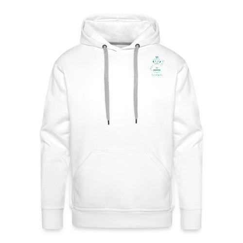 Blanc avec logo dojo vert jette - Sweat-shirt à capuche Premium pour hommes