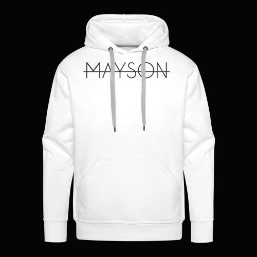 Mayson Schriftzug schwarz - Männer Premium Hoodie