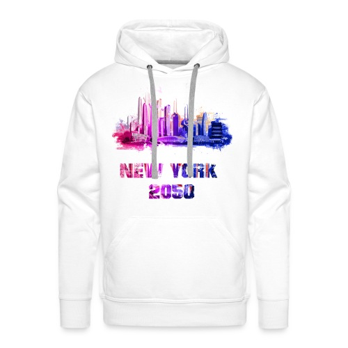 New York 2050 - Sweat-shirt à capuche Premium pour hommes