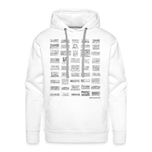 Synth Evolution T-shirt - White - Men's Premium Hoodie