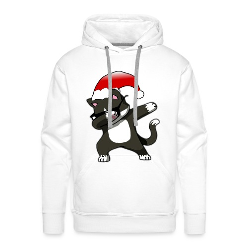 Lustige Katze Kater Dab Dabbing Weihnachten Logo - Männer Premium Hoodie