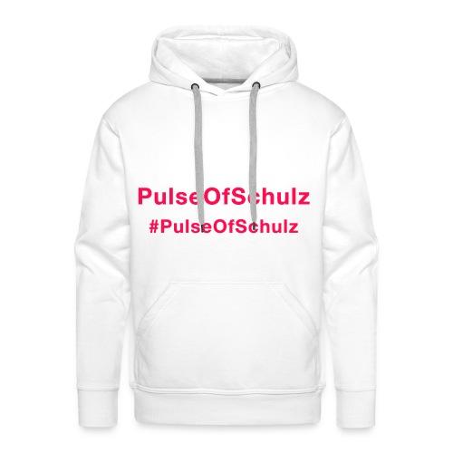 PulseOfSchulz - Schriftzug rot - Männer Premium Hoodie
