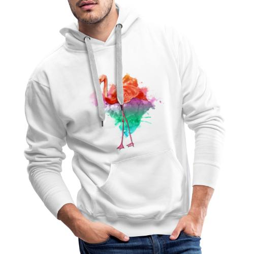 Colorful Flamingo - Männer Premium Hoodie
