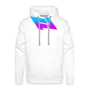blue & purple gradient (FOX LEADER LOGO) - Men's Premium Hoodie