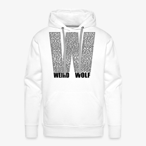 The Big W (Black) - Men's Premium Hoodie