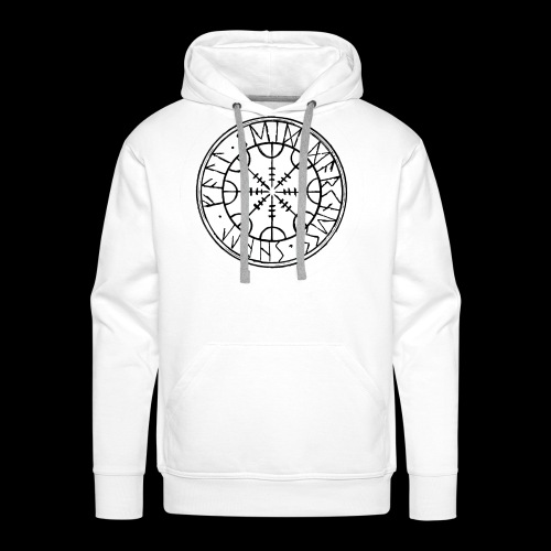 SEID-DARKNESS SHALL FALL- BLACK ON WHITE - Men's Premium Hoodie