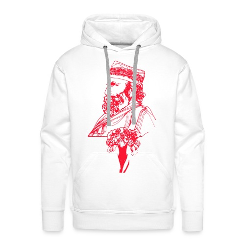 Garibaldi con garofano - Felpa con cappuccio premium da uomo