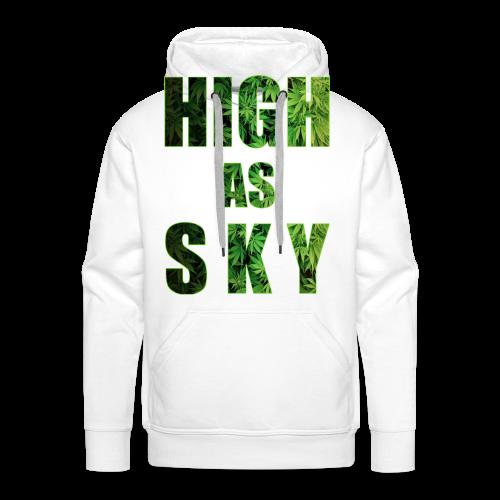 High as Sky Weed Design - Männer Premium Hoodie