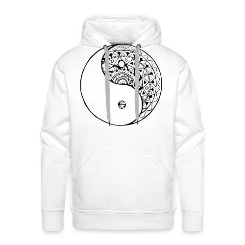 mandala yin yang - Sudadera con capucha premium para hombre
