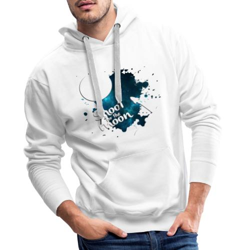 Shoot for the Moon Galaxy Edition - Men's Premium Hoodie