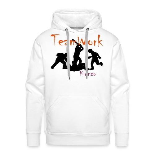 team work - Sweat-shirt à capuche Premium pour hommes