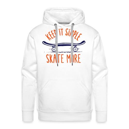 skateboard - Sweat-shirt à capuche Premium pour hommes