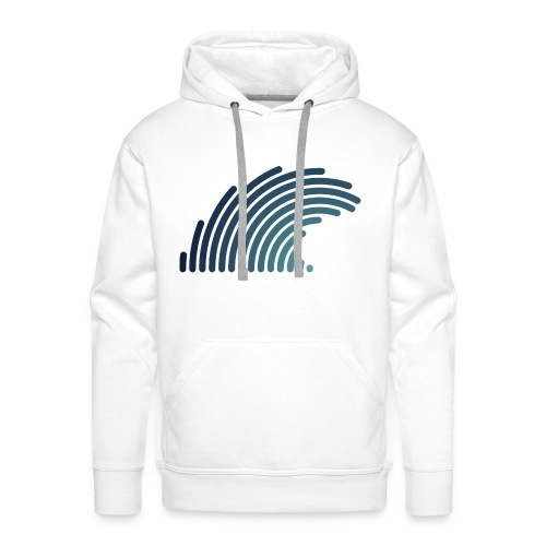 Blue Wave - Sweat-shirt à capuche Premium pour hommes