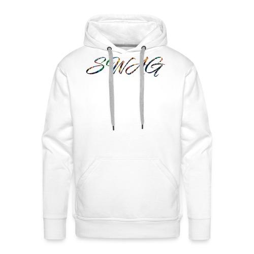 Texte 'Swag' - Sweat-shirt à capuche Premium pour hommes