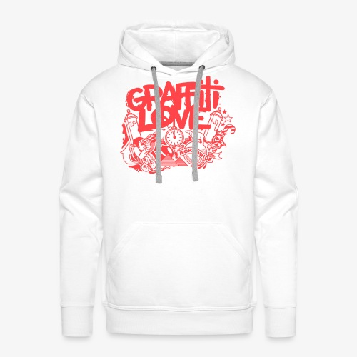 cosmos1 red graffiti love - Männer Premium Hoodie