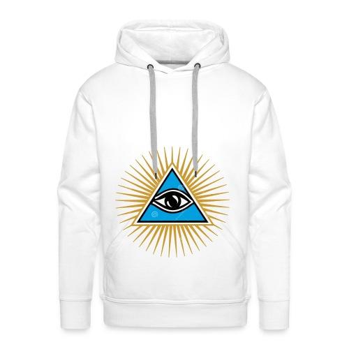 illuminati eye - Sudadera con capucha premium para hombre