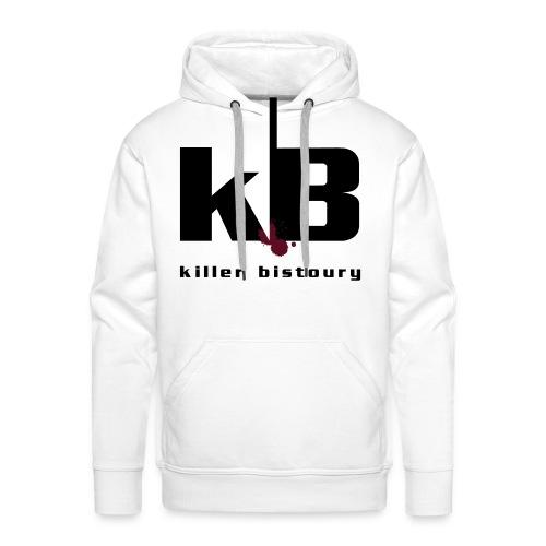 killer bistoury white - Felpa con cappuccio premium da uomo