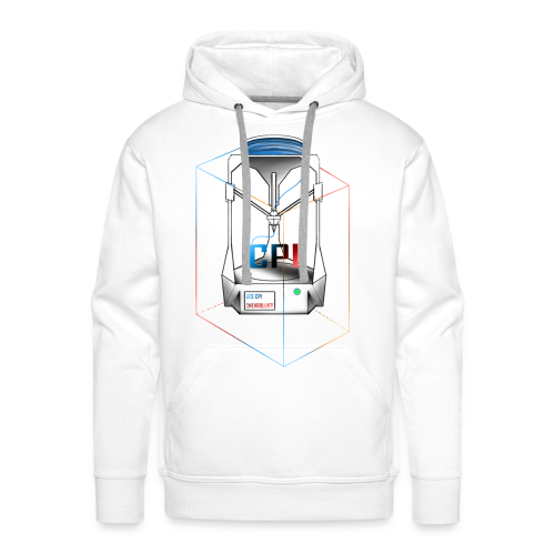 New Logo CPI - Sweat-shirt à capuche Premium pour hommes